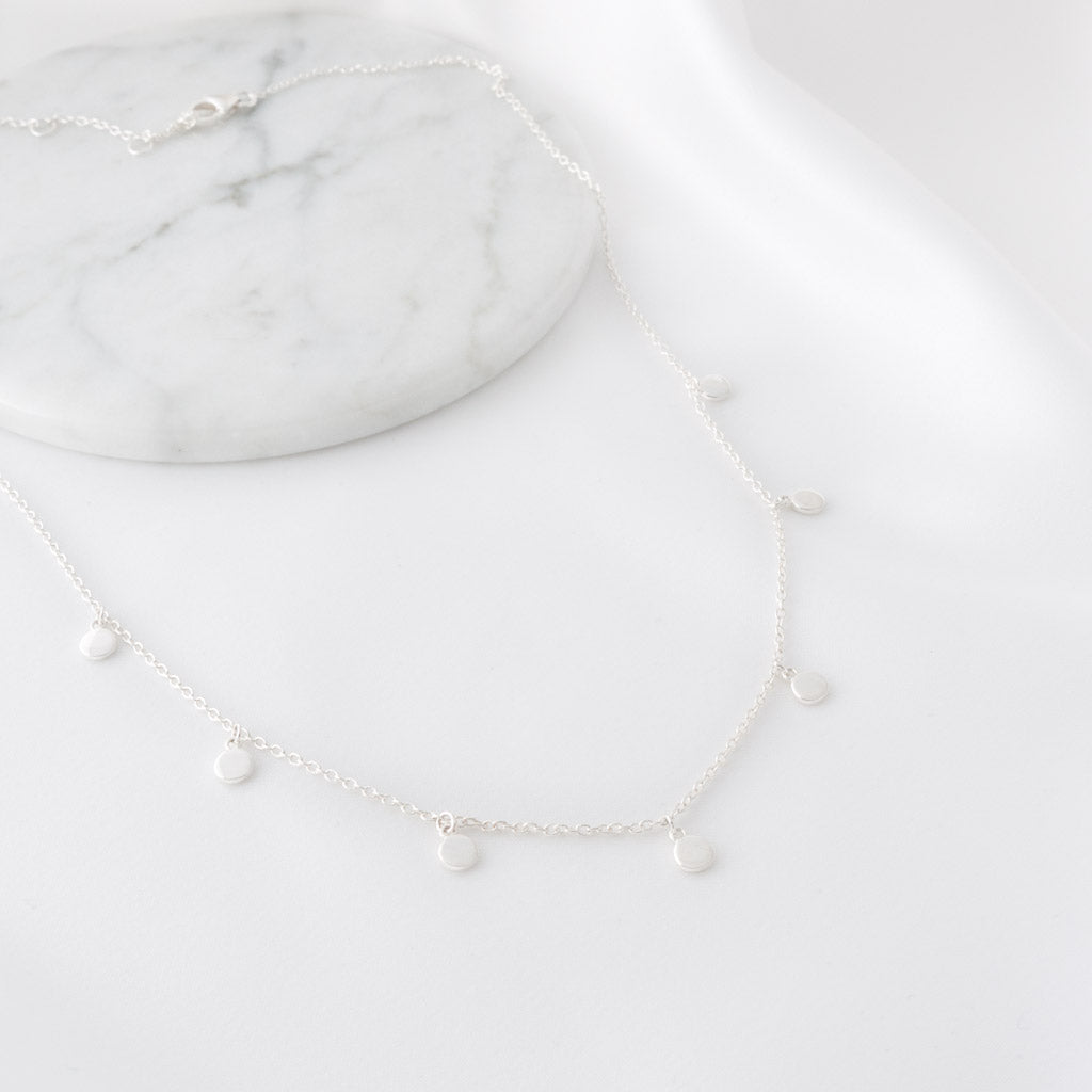 Charlotte Sterling Silver Mini Disc Necklace