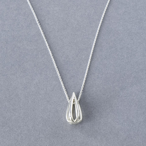 Metropolitan Sterling Silver Drop Pendant Necklace