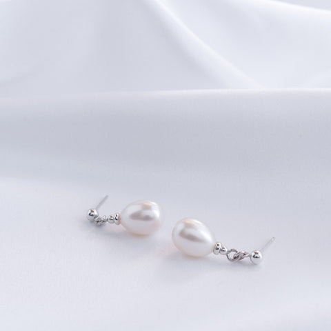 Lauren Teardrop Pearl Drop Earrings