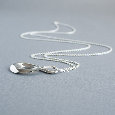 Sterling Silver Long Infinity necklace