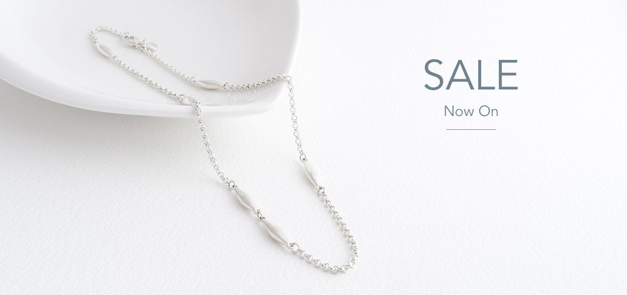 Tulip Sterling Silver Twisted Ribbon Necklace