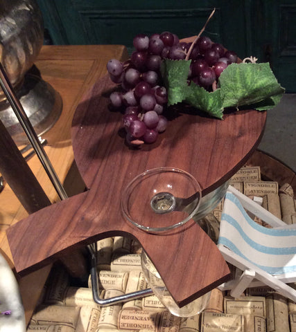 Wine Assessories - Gift - Wood Hors D'oeuvres Plate -plaque Pour Hors D'oeuvres