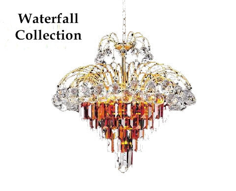 waterfall chandelier