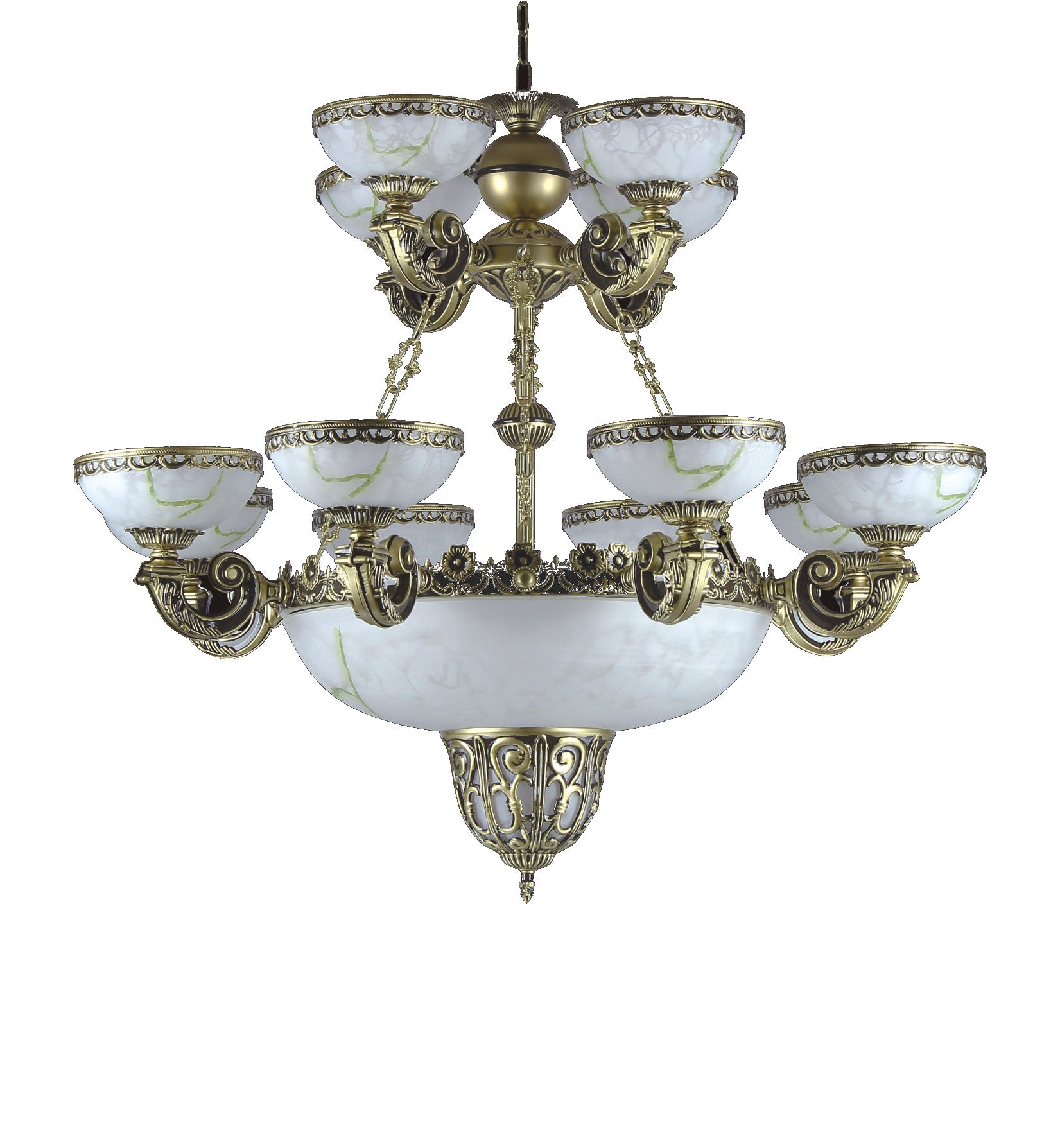 Alabaster Chandelier 073 8 4 3 Light – Chandeliers Today