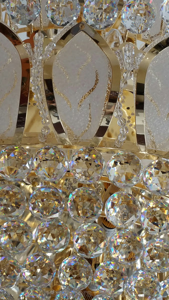 crystal murano chandelier detail