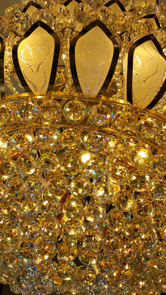 crystal chandelier detail