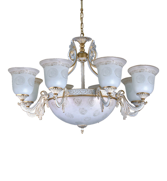"<strong>Alabaster Chandelier</strong><br> #245 8+3 Light<br><font color=""red""><strong>Reduced 50%</strong></font></strong><br>Sale Price"