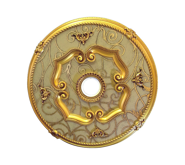 Round Ceiling Medallion #ROUND100-F2-Antique