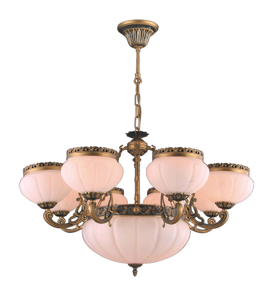 Alabaster Chandelier #4400-H 8+3 Light