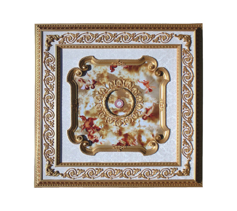 Square Ceiling Medallion #SQUARE-S-023