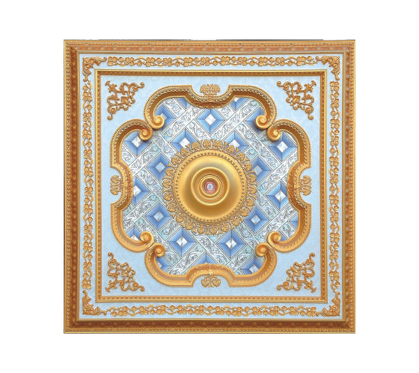 Square Ceiling Medallion #SQUARE-S-040
