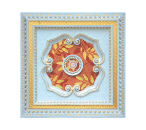 Square Ceiling Medallion #SQUARE-2W-025