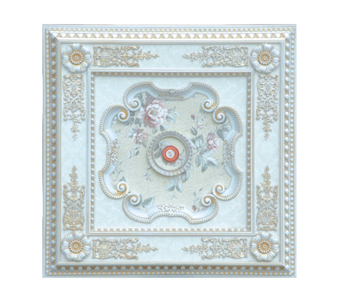 Ceiling Medallion #SQUARE-W-042
