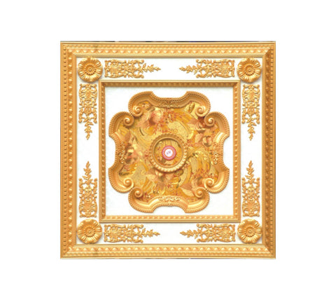 Square Ceiling Medallion #SQUARE-S-057