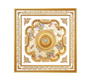 Square Ceiling Medallion #SQUARE-S-058