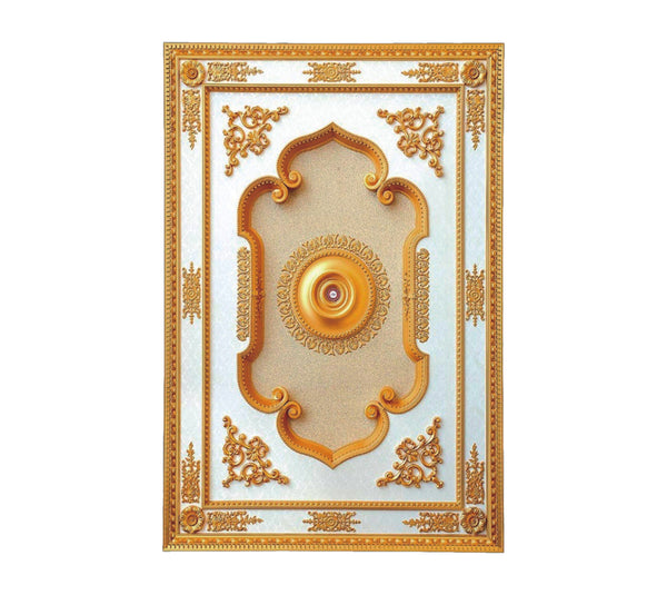 Rectangle Ceiling Medallion #RECTANGLE-2-S-107
