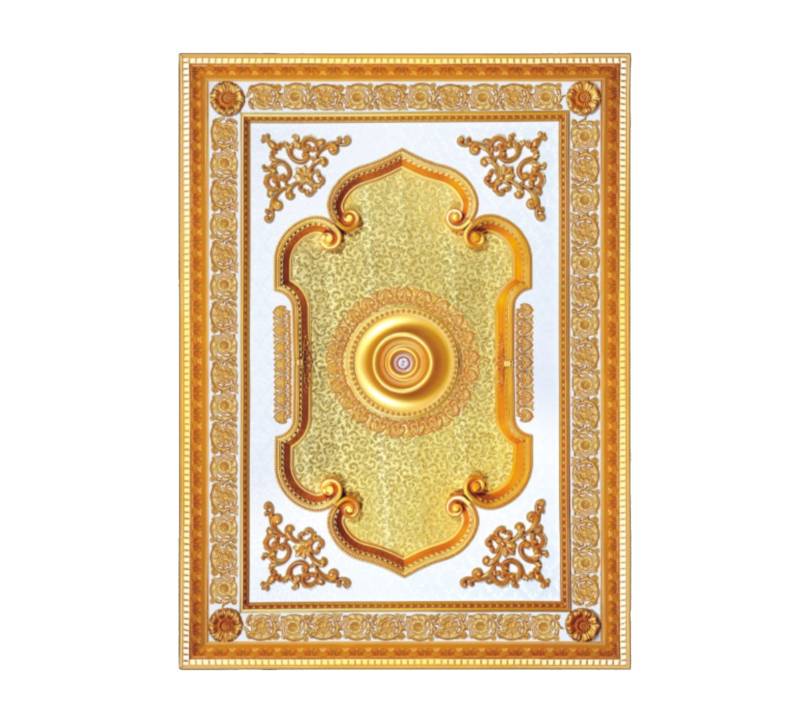 Rectangle Ceiling Medallion #RECTANGLE-3S-099