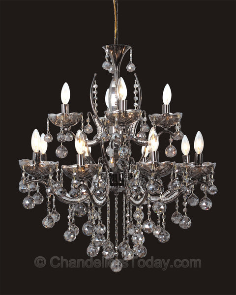 smoke black chandelier