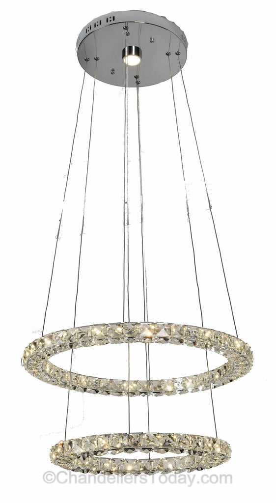 Miami samsung led chandelier double ring halo mia r 2116 samsung led chandelier miami led chandelier aloadofball Gallery