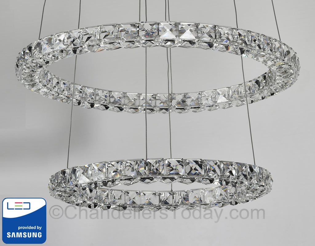 Miami samsung led chandelier double ring halo mia r 2116 samsung led chandelier miami led chandelier led chandelier aloadofball Gallery