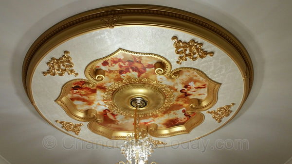 ceiling medallion installed