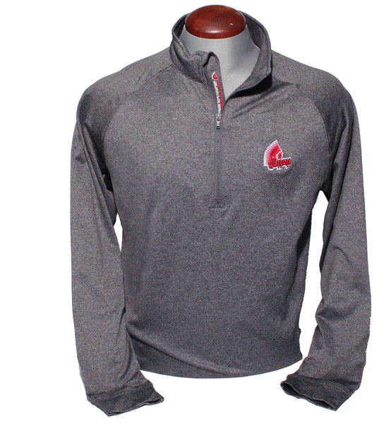 Level Wear Calibre Mens Quarter Zip Charcoal