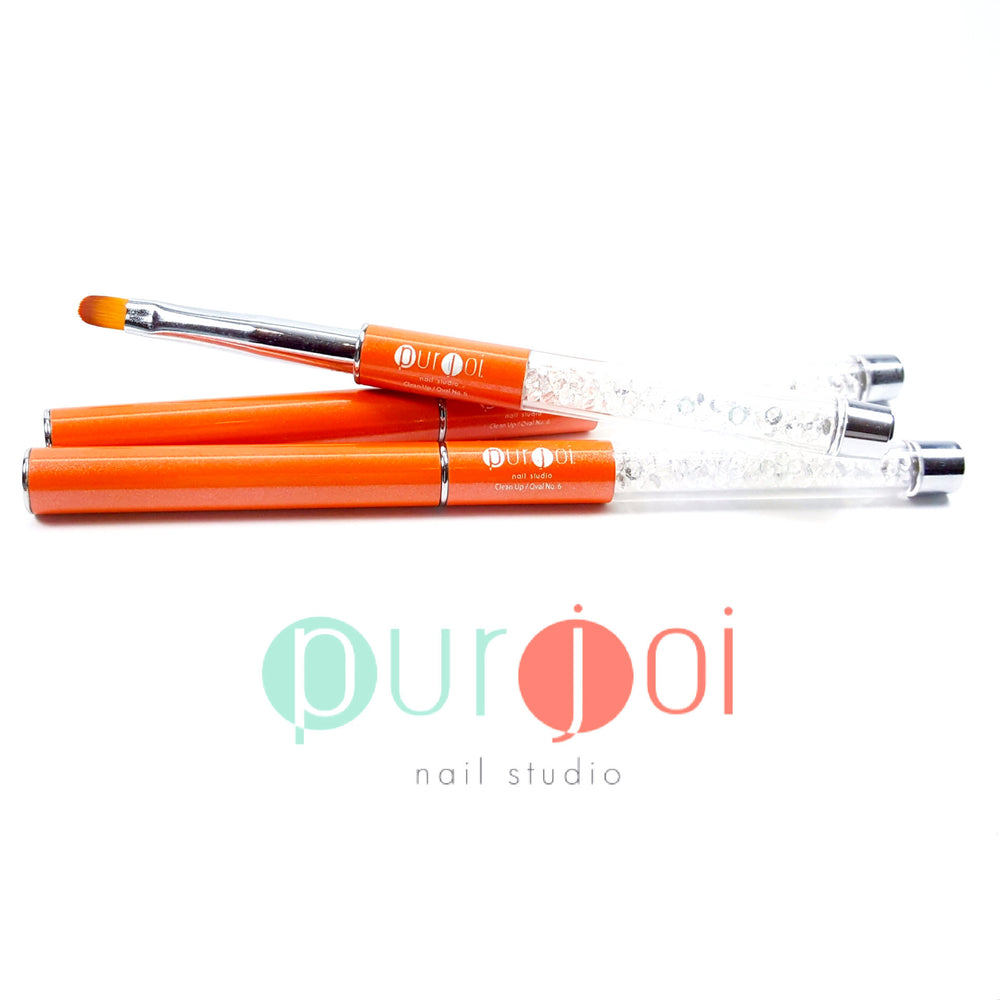 Oval No. 6 Clean Up Brush – Purjoi Nail Studio
