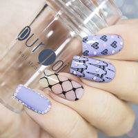 Clear Nail Stamper With Cap - 2.8 CM - Purjoi Nail Studio