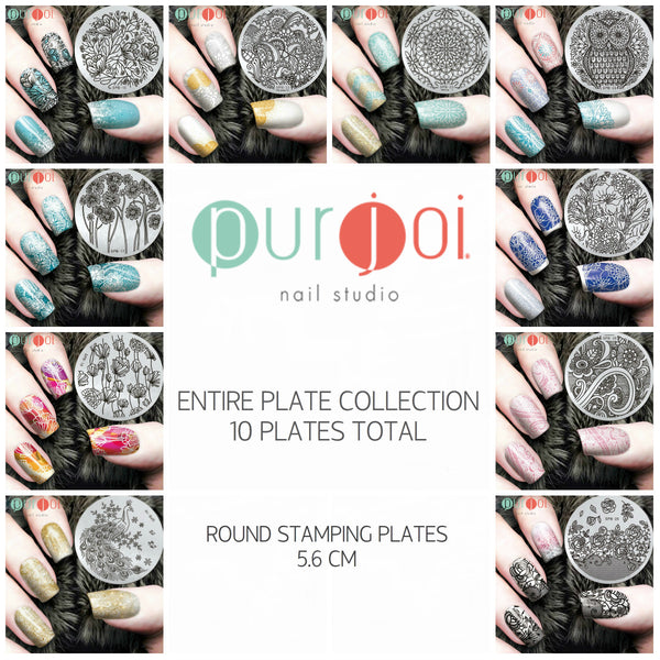 Round Stamping Plates - SPB Collection