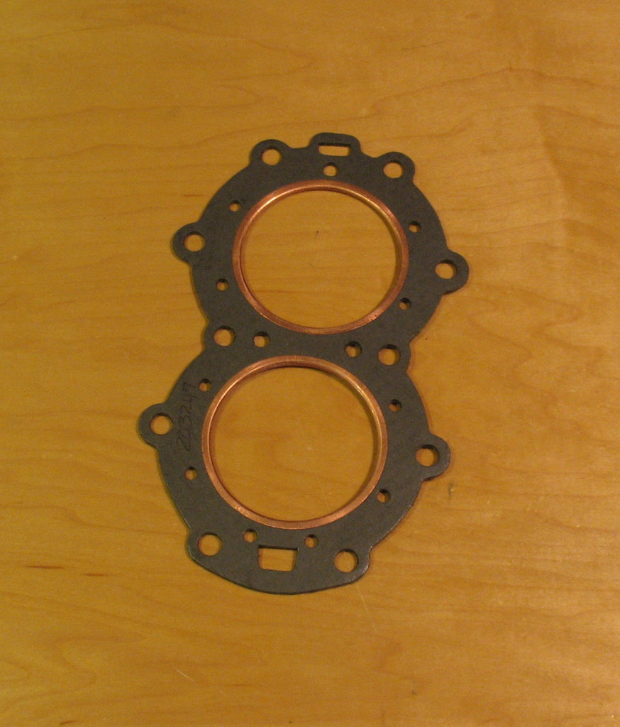 203247 head gasket, fits 1953-1956 15hp Evinrude and Johnson, also 12hp Gale 1956-59 part # 552181