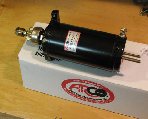 Starter motor, Arco 5374 replaces Merc 50-31976, 50-37274A4, 50-58788A3, 50-67341