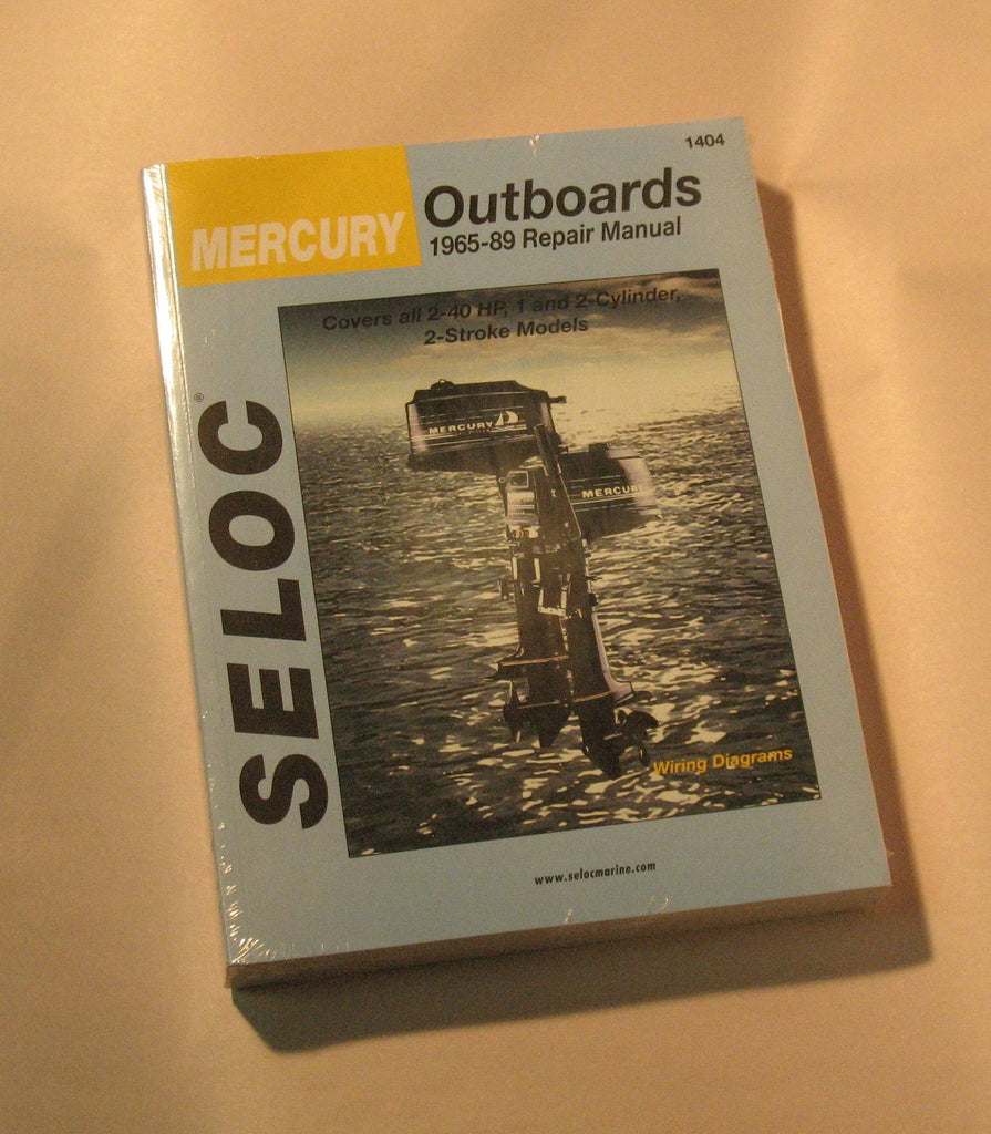 Seloc 1404 - Seloc Service Manual Mercury 1 & 2 cylinder 2-40hp 1965-89