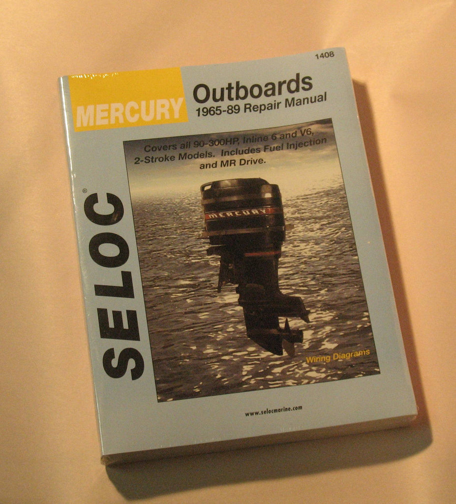 Seloc 1408 - Seloc Service Manual Mercury 6 cylinder  90-300hp inline and V6 2-stroke1965-89