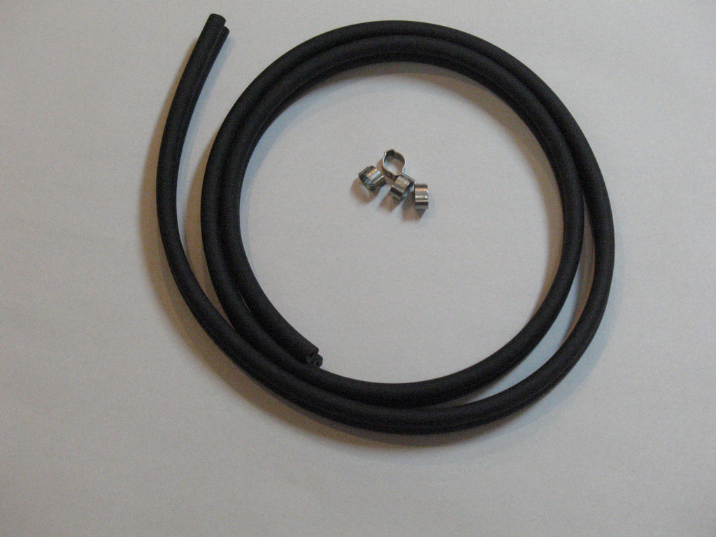 8051- Fuel hose, double/tandem fuel line with clamps for Johnson/Evinrude remote pressure tank systems