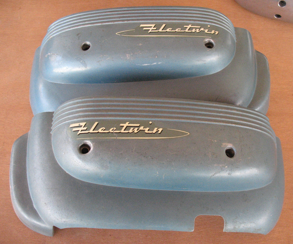 Evinrude Fleetwin 7.5hp lower cowl set, good USED condition as pictured from 1953 model 7512