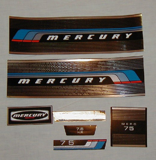 new decal set for 1976 or 1977 Mercury 7.5HP