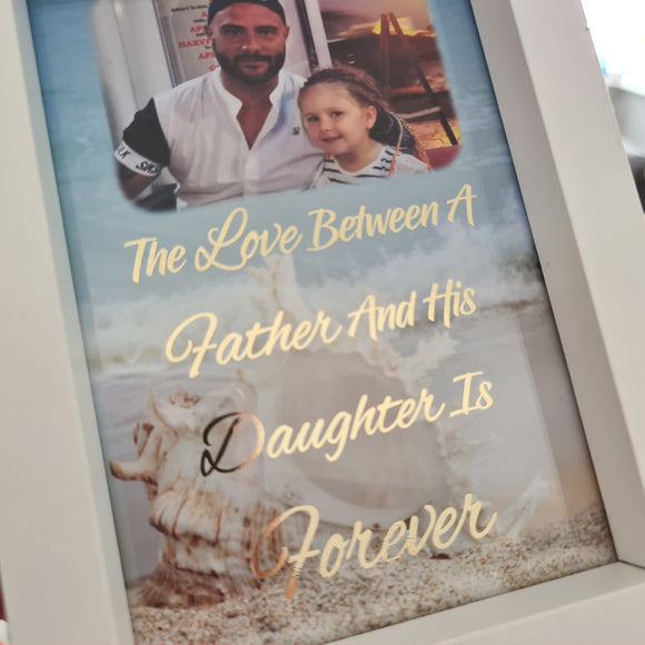 The love between a father and his daughter foil print (UNFRAMED)