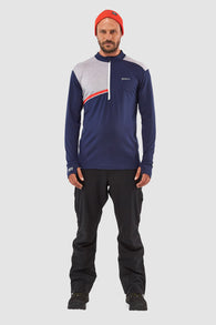 Alta Tech Half Zip Navy/Gray Marl