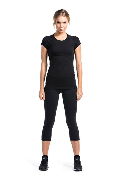 Bella Tech Tee Geo Black