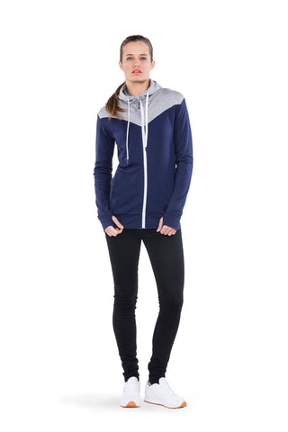 Covert Mid-Hit Hoody Navy/Grey Marl