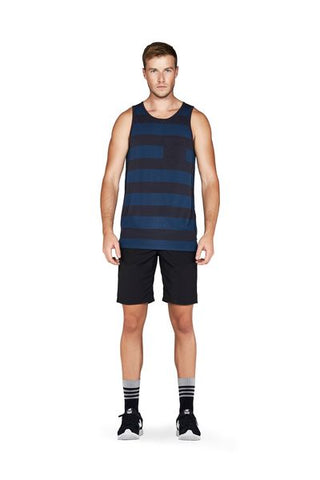 Harvey Pocket Singlet Ink Stripe