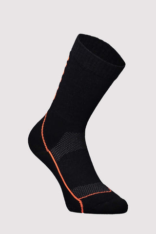 "MTB 9"" Tech Sock Black/Neon-Dömu"