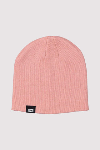 The Shorty Beanie Solid Dusty Pink