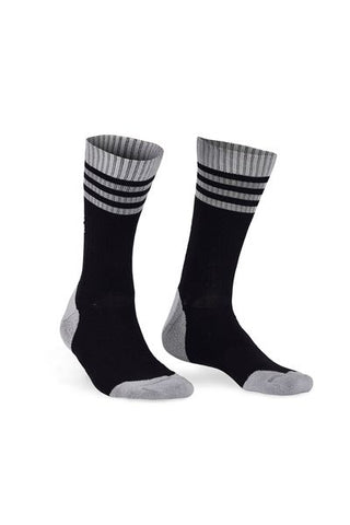Signature Crew Sock Black/Grey-Herra