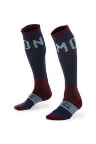 Lift Access Sock Plain Navy/Burgundy/Lead-Herra