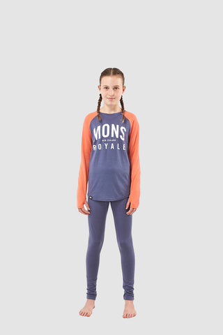 Girls Groms LS Coral/Stone Blue 8-13 Years
