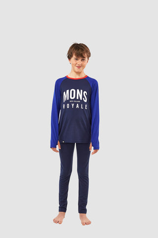Boys Groms Legging Navy 8-13 Years