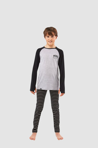 Boys Groms Legging Thin Stripe 8-13 Years