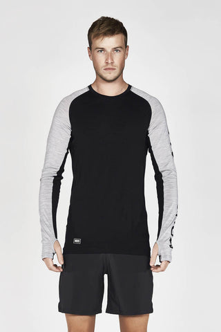 Temple Tech LS Geo Black/Gray Marl