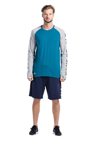 Temple Tech LS Geo Blue Steel/Gray Marl